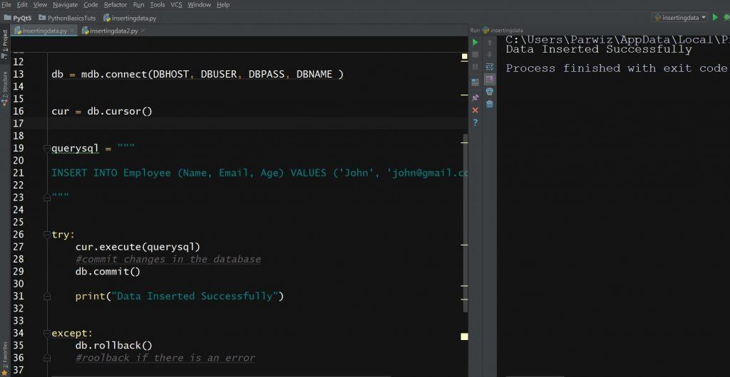 Python Mysql Database For Beginners - Code Loop