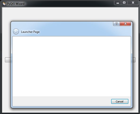 PyQt5 GUI Creating Wizard Page With QWizard - Code Loop