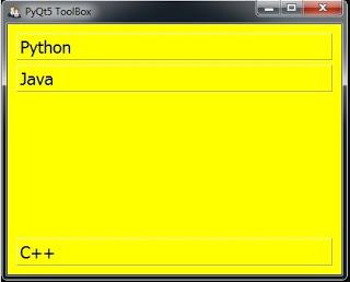 PyQt5 Desktop Applications Creating QToolBox - Code Loop