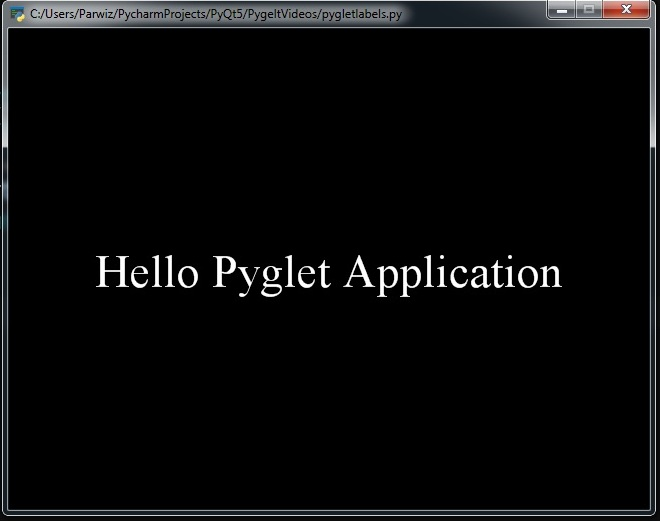 Python Pyglet Introduction Creating First Window - Code Loop