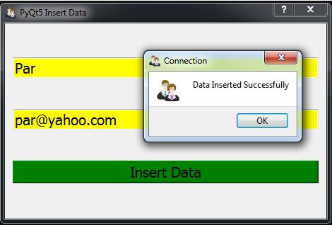 PyQt5 Inserting Data In To Mysql Database - Code Loop