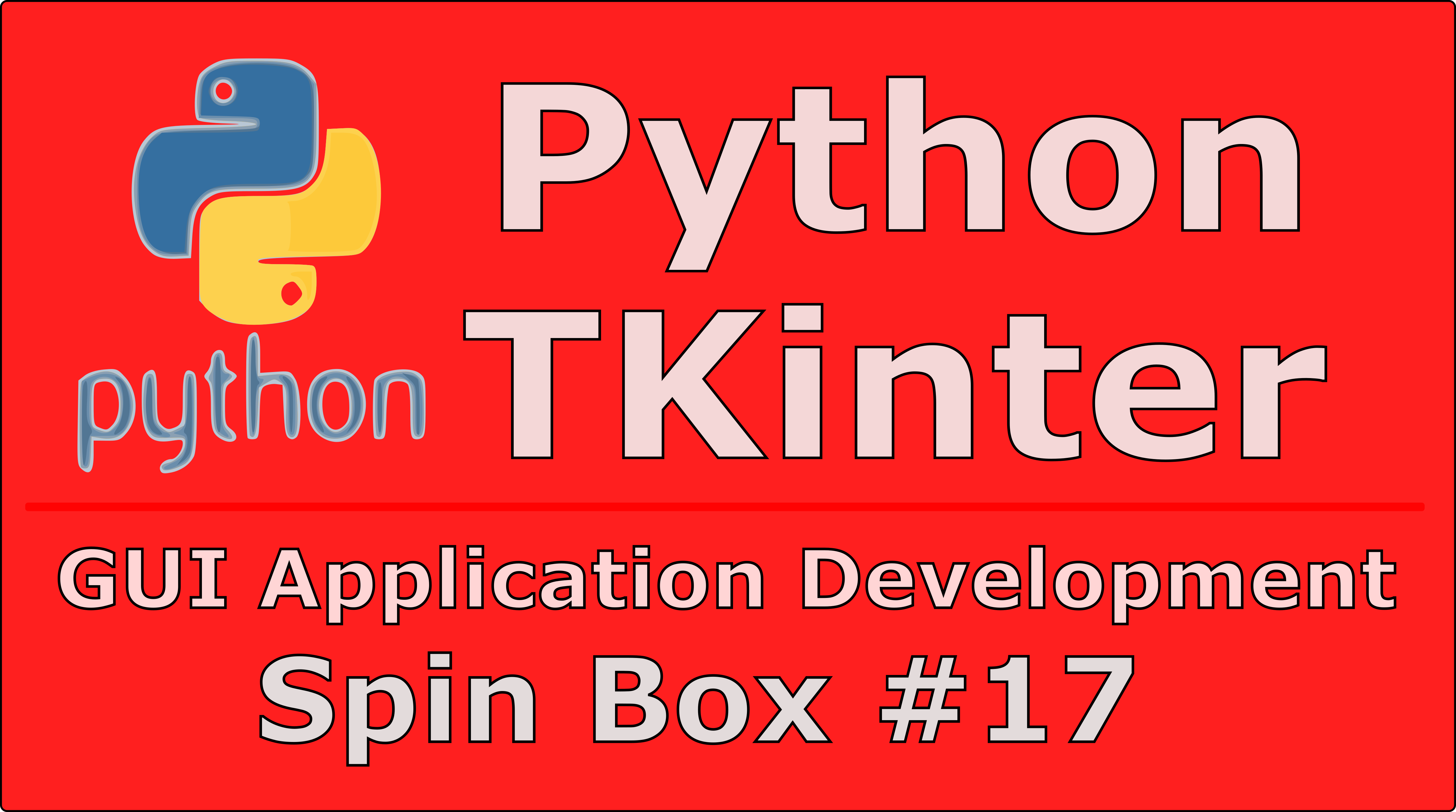 How To Create SpinBox In Python TKinter - Code Loop
