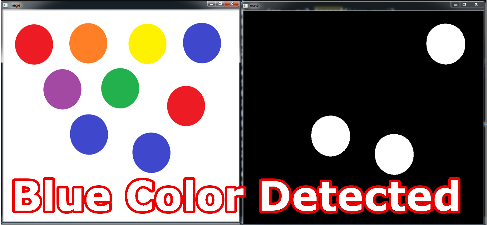 OpenCV Python Color Detection Example - Code Loop