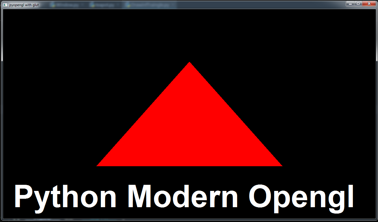 Python Modern Opengl Drawing Triangle - Code Loop
