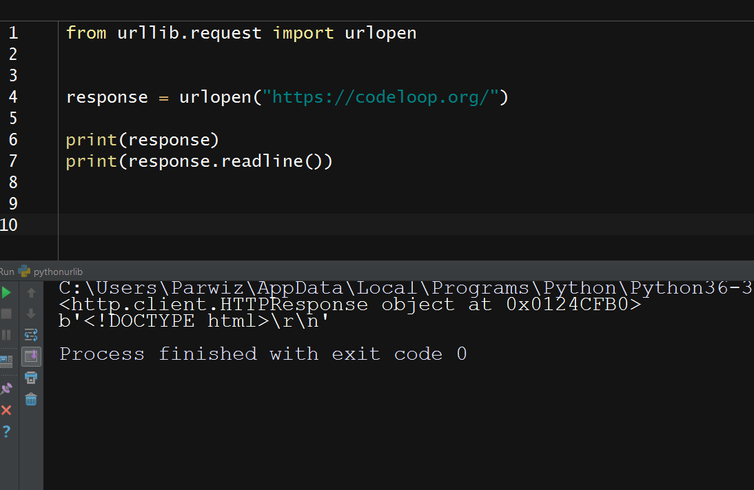 Python Network Programming With Urllib - Code Loop