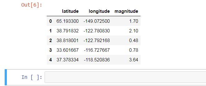 Google Map Earthquake Data