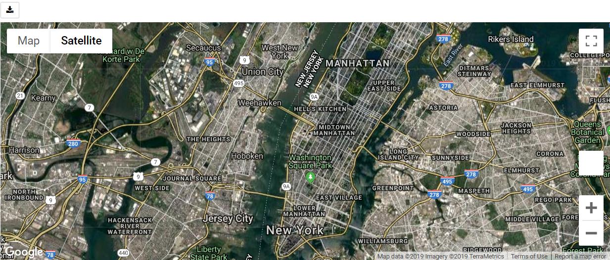 Python Google Map Hybrid Map