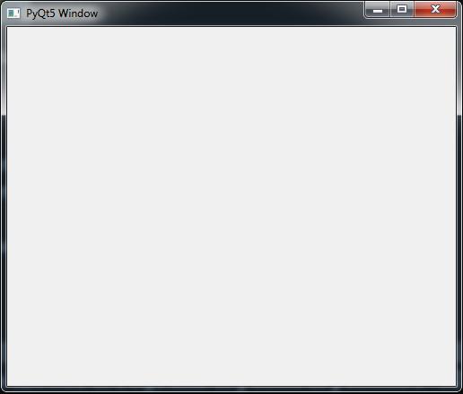 PyQt5 Window Example