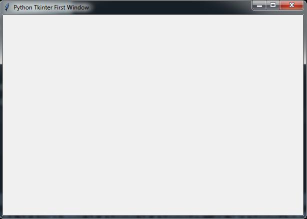 Python TKinter Window Example