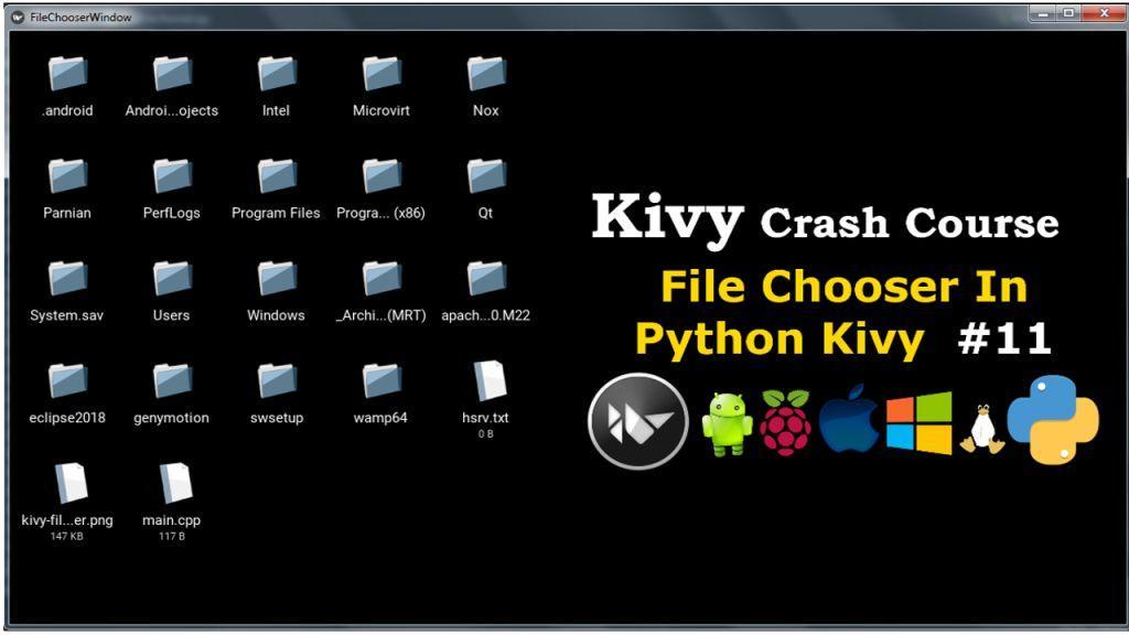 Python Kivy How to Create FileChooser